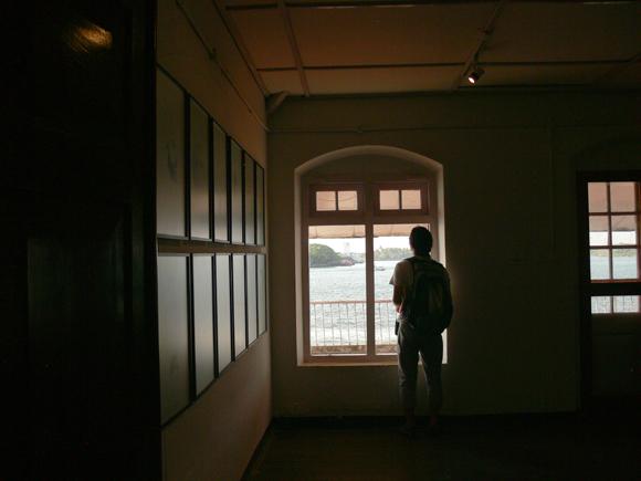 A visitor at Aspinwall House