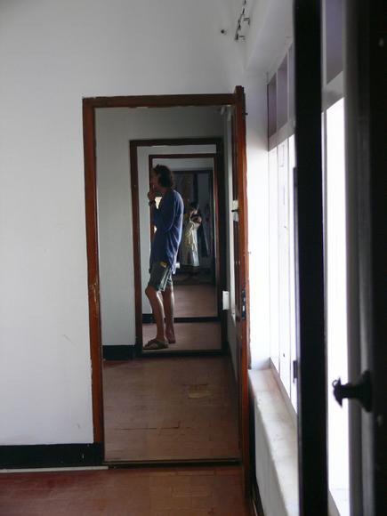 Visitor at the Aspinwall House...