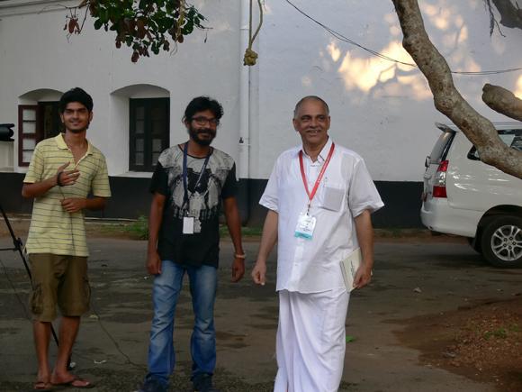 Jose Thettayil, Kerala MLA, visits Kochi-Muziris Biennale 2014