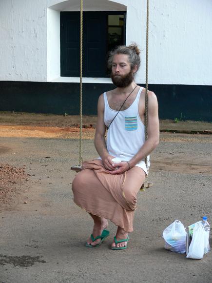 A modern Yogi from Germany... he is an expert hypnotist :)