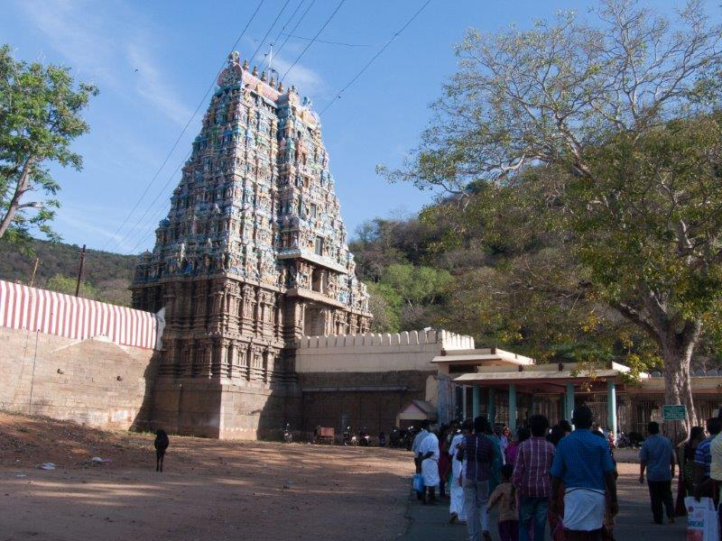 The main gopuram and the shire for Karuppaswamy.