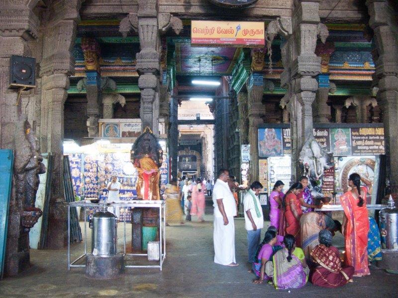 Inside Tirupparamkunram Murugan Temple