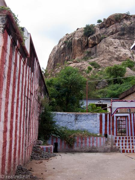 View of Kalugumalai Hill from the Lord Muruga Temple...