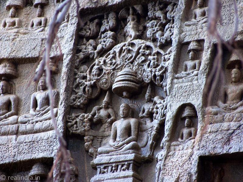 Jain bas-relief stone sculptures.