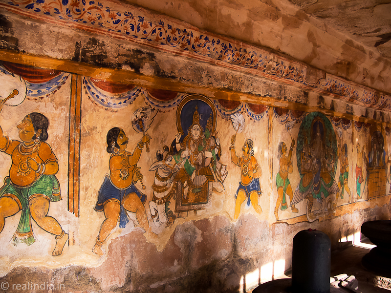 Mural painting inside the cloisters...