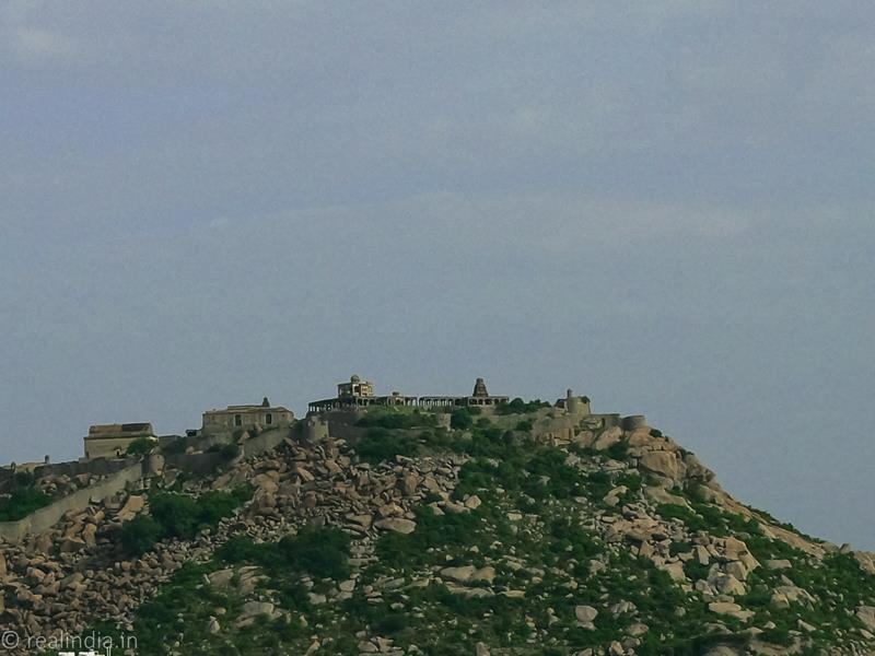 View of the Krishnagiri Fort from the hotel room.